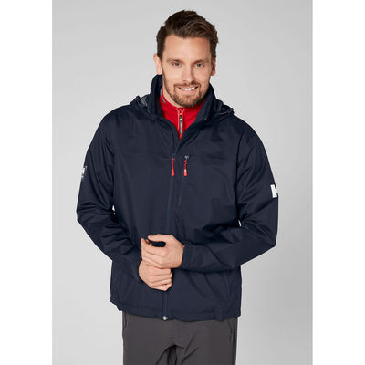 Helly Hansen Men's CREW HOODED JACKET in Navy