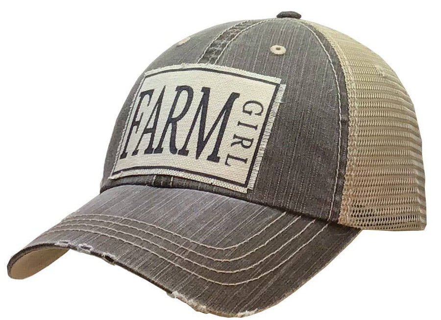 Vintage Life - Farm Girl Distressed Trucker Cap