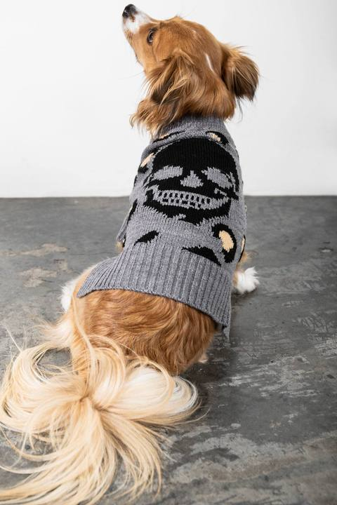 LEOPARD SKULL DOG SWEATER by Skull Cashmere