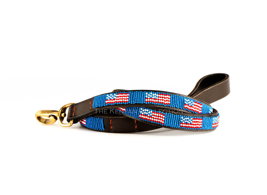 American Flag Dog Lead