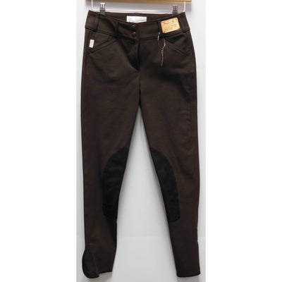 TS 1967 Brown w/ Black Knee Patch Low Rise Front Zip Breech - Exceptional Equestrian