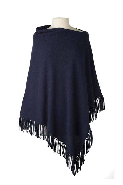 Fringed Poncho - 3 colors