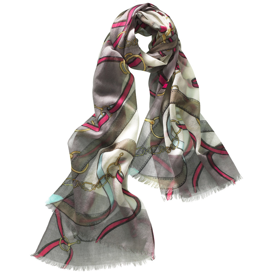 CC Featherweight Printed Shawl - Cavallo - Exceptional Equestrian