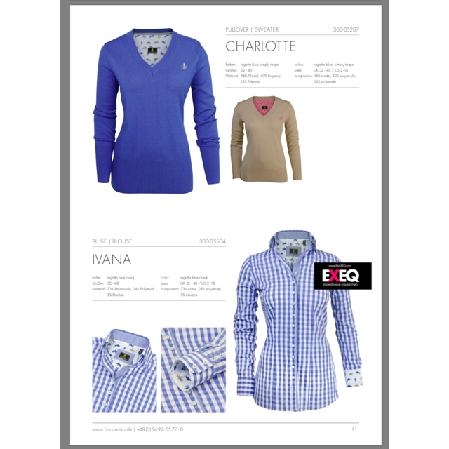 Fior da Liso  Charlotte Sweater Regatta Blue