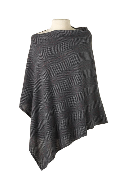 CC Cashmere Glen Plaid Cape