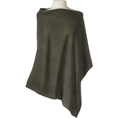 CC Cashmere Glen Plaid Cape - Exceptional Equestrian