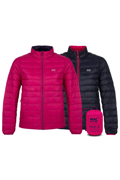 POLAR II WOMENS REVERSIBLE DOWN JACKET - Navy Fuchsia
