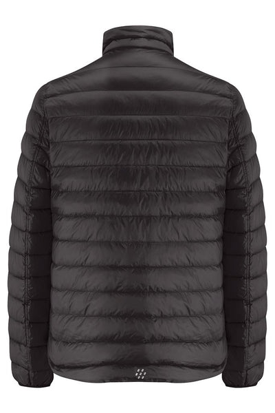 POLAR II MENS REVERSIBLE DOWN JACKET - Jet Black/Charcoal