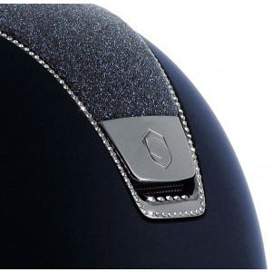 Samshield Shadow Matt Helmet Top Crystal Fabric with 255 Swarovski Crystals - Exceptional Equestrian