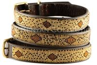 """Cheetah"" Beaded Dog Collar"