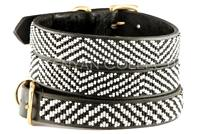 """Zebra"" Beaded Dog Collar"