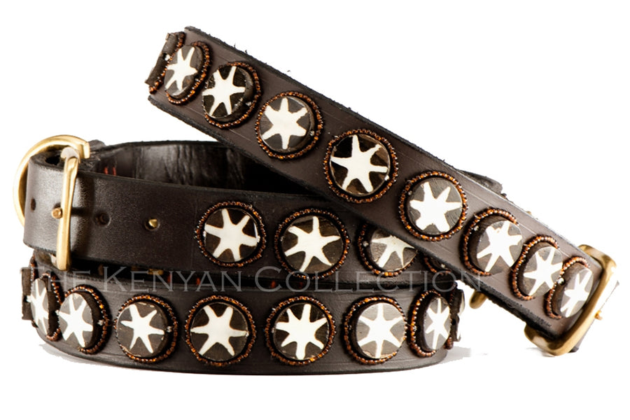 The Kenyan Collection Beaded Belts - Batik Bone Stars