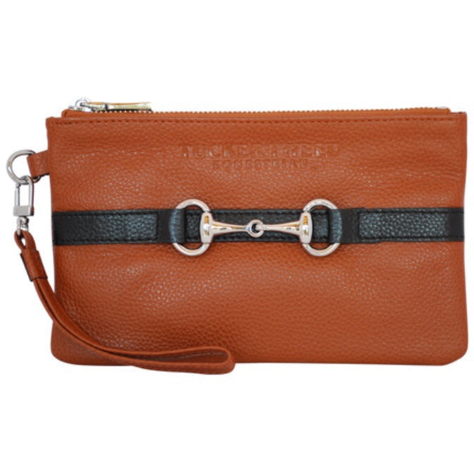 "Tucker Tweed ""Wellington"" Wristlet in Black/Chestnut, Chestnut/Black, Grey/Black, Navy/Chestnut - Exceptional Equestrian"