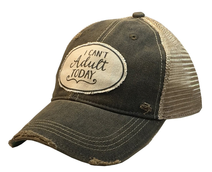 """I Can't Adult Today"" Distressed Trucker Cap"