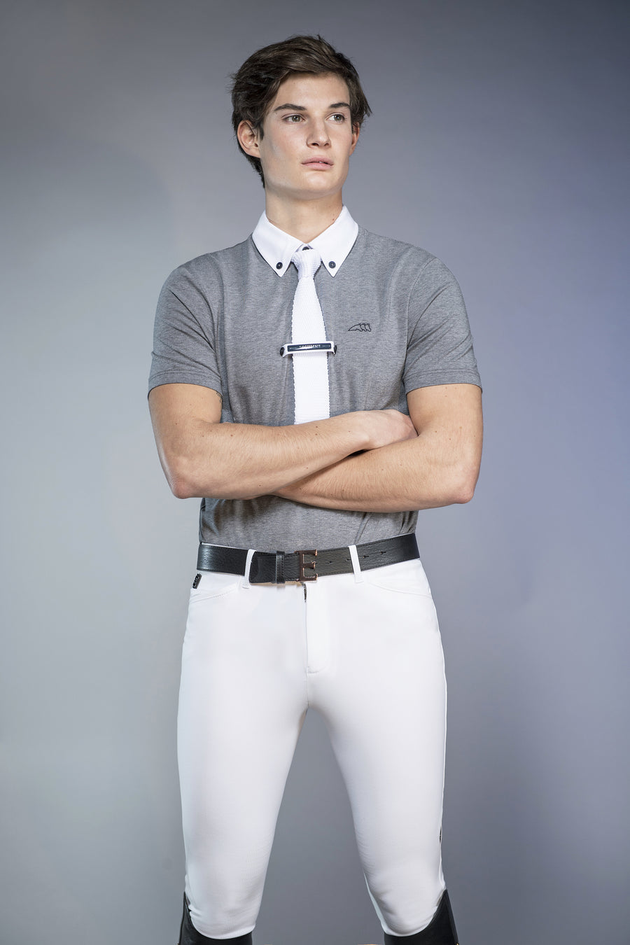 Equiline Aldo Men's Show Shirt - White