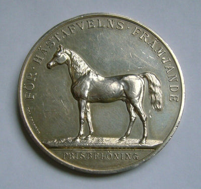 Solid Silver Horse Breeding Medal