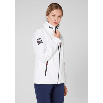 Helly Hansen Women's Crew Hooded Jacket White - Exceptional Equestrian
