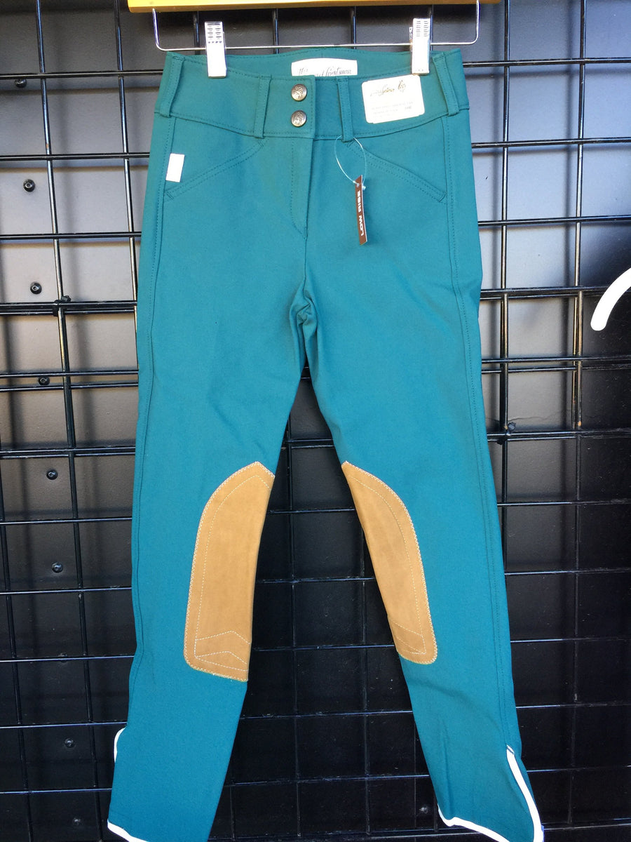1967 Dark Teal w/ tan Knee Patch Low Rise Front Zip