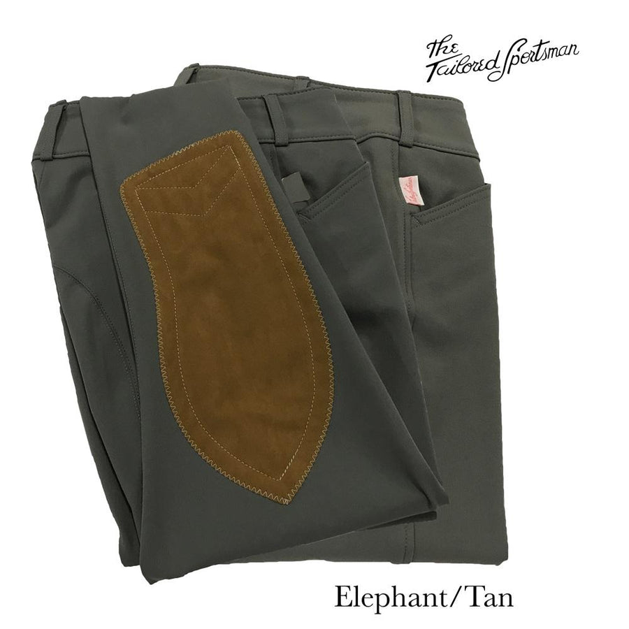 1967 Elephantl w/ tan Knee Patch Low Rise Front Zip