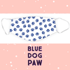 Face Mask - Blue Dog Paws