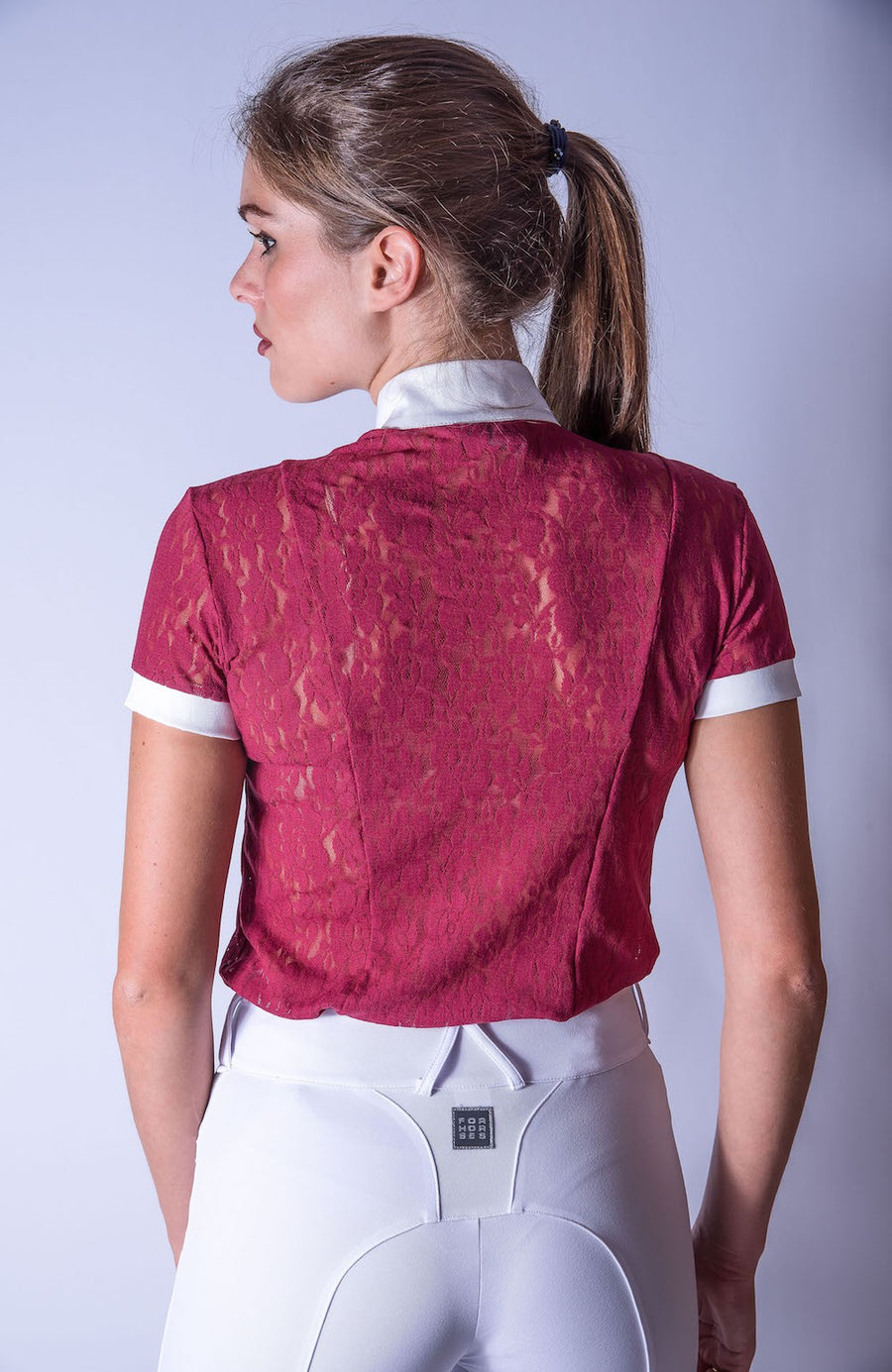 For Horse Luna Show Shirt  Navy or Burnt Bordeaux - Exceptional Equestrian