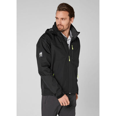 Helly Hansen Men's CREW HOODED JACKET in Black