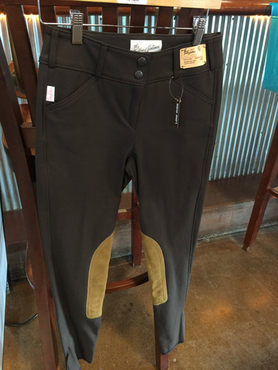 1967 Brown w/Tan Knee Patch Low Rise Front Zip Breech