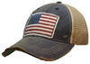 American Flag USA Distressed Trucker Cap