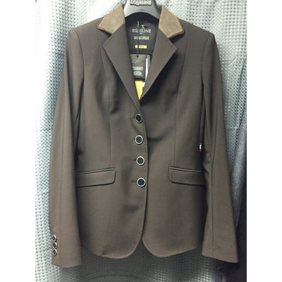 Equiline Custom Gait Show Coat in Brown - Exceptional Equestrian
