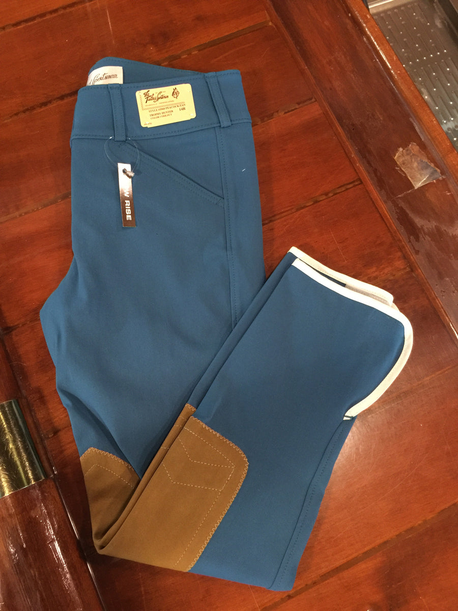 3960 Peacock/Tan Tailored Sportsman Girls Breeches