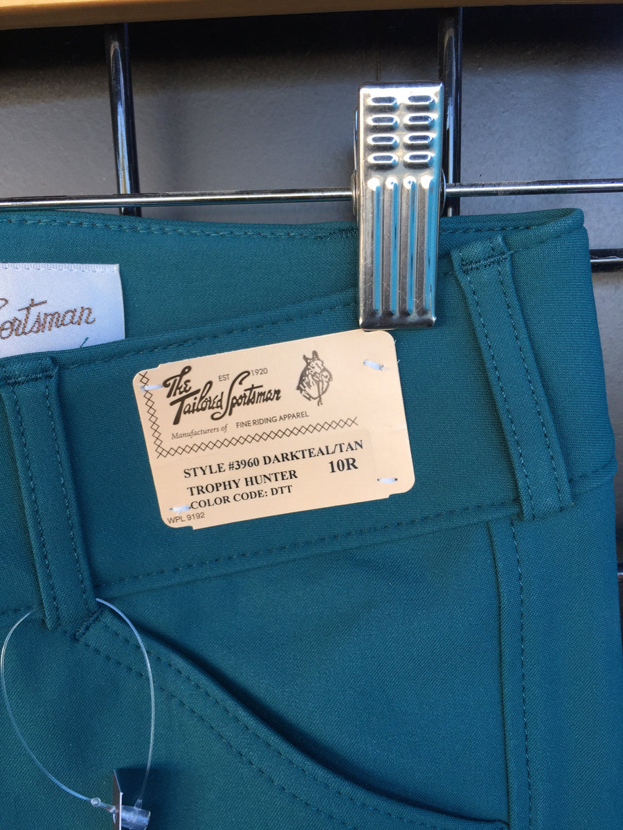 3960 Girl's Dark Teal  Tailored Sportsman Breeches