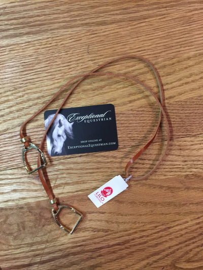 Lilo Collections- Sally Leather Loop Necklace