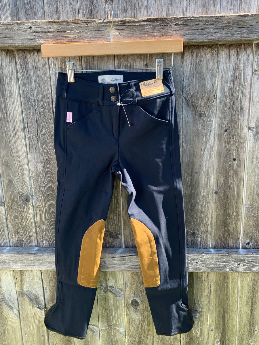 3960 Black/Tan Tailored Sportsman Girl's Breeches