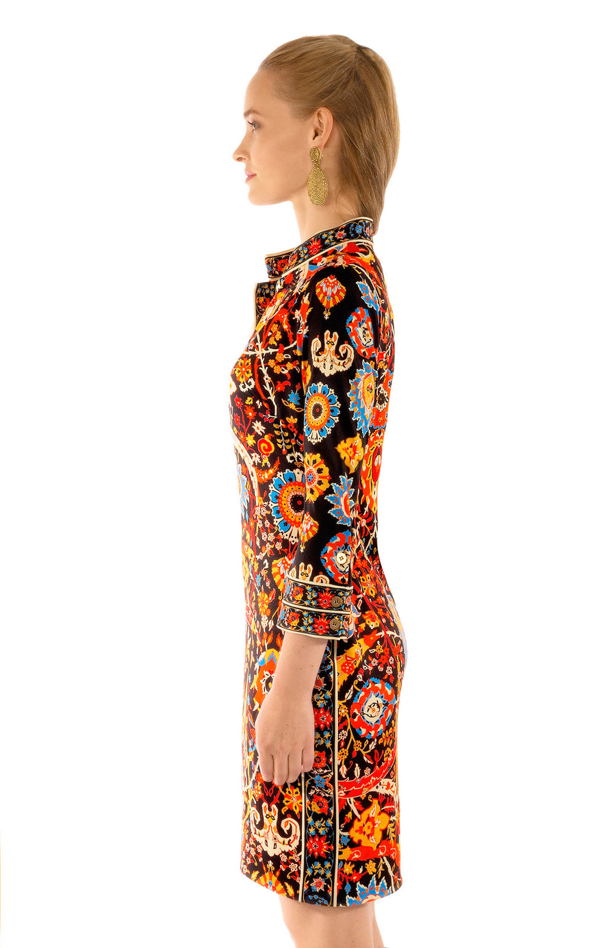 Gretchen Scott Magic Carpet Mandarin Dress