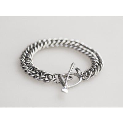 Michel McNabb Curb chain Bracelet Sterling Silver - Exceptional Equestrian