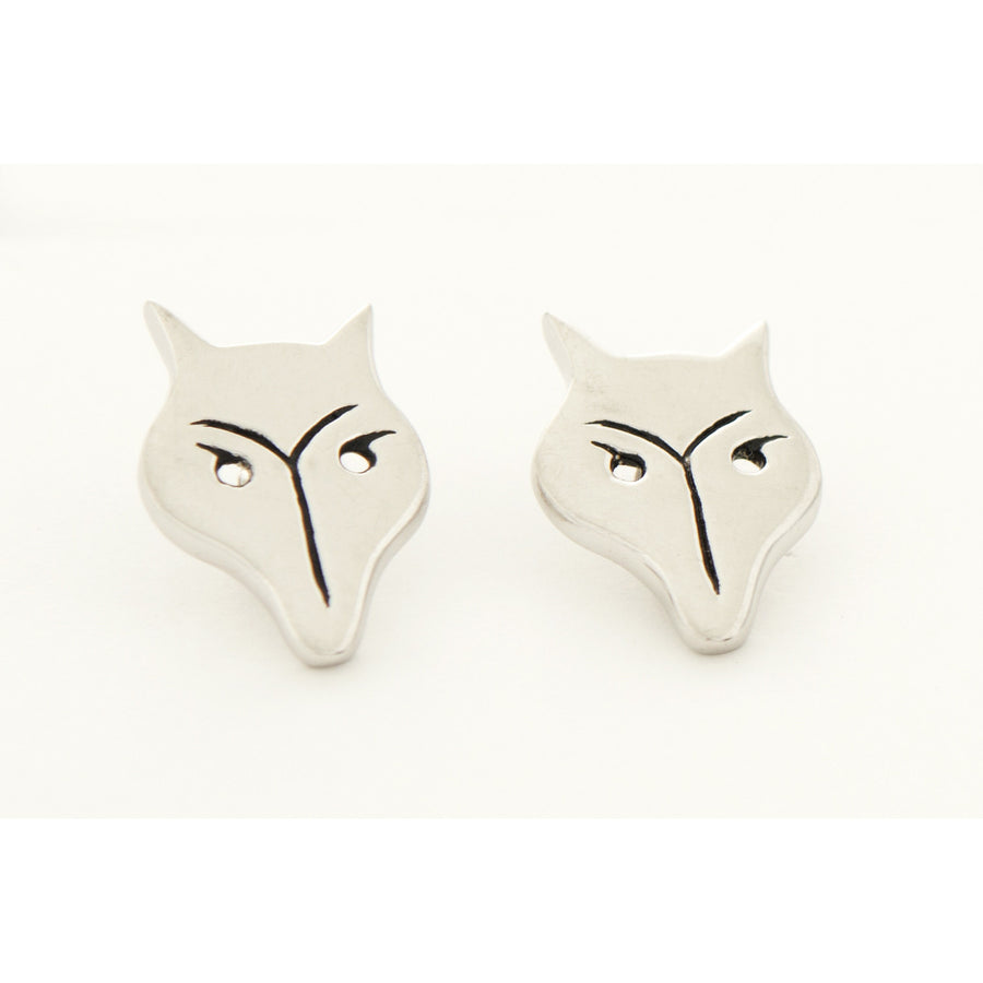 Michel McNabb Fox Earrings - Exceptional Equestrian