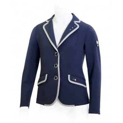 Equiline Milly Girl's Show Coat -  Navy