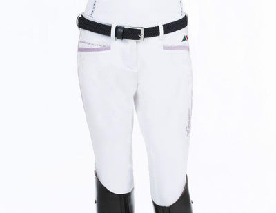Equiline Mindy Girl's Full Seat White Breech