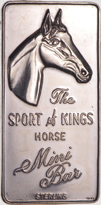 Rare Sterling Silver -Limited Edition - The Sport Of Kings Horse Mini Bar - 9.6 Grams