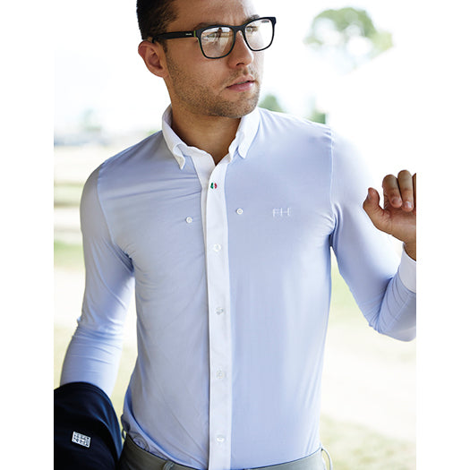 For Horses Adriano Men's Long Sleeve Show Shirt - White