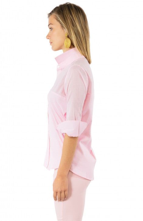 Gretchen Scott Sleek Voile Top Pale Pink