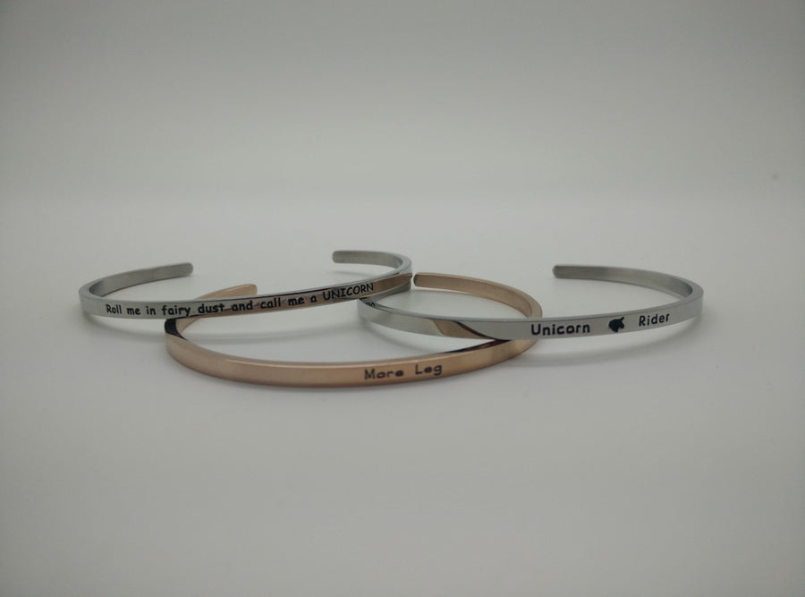 Swanky Saddle Equestrian Mantra Bangles - Exceptional Equestrian