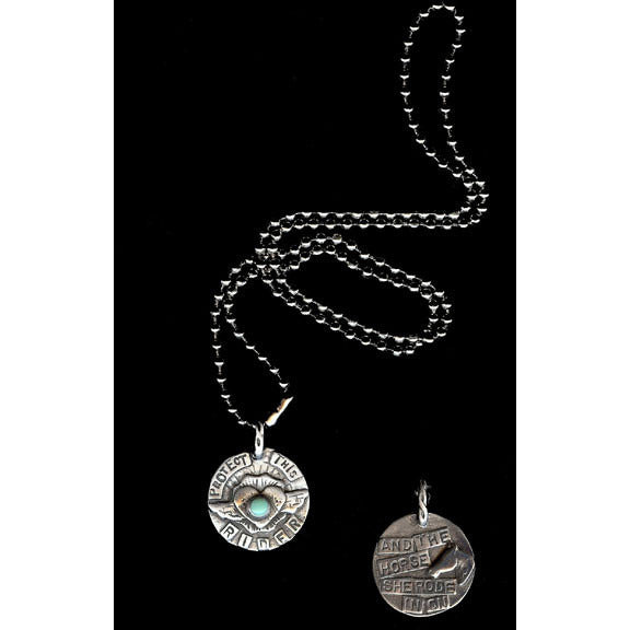 Sweet Birds Protect this Rider Pendant - Exceptional Equestrian