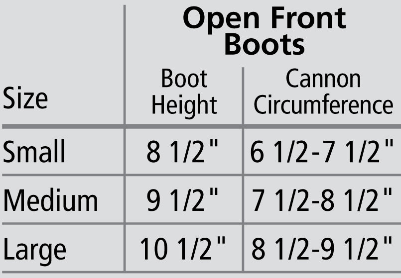 VEREDUS® OLYMPUS™ OPEN FRONT BOOTS - Colors
