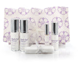 Facial gift/travel set in organic fabric bag