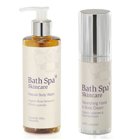 Gift Set - Natural Body Wash and Nourishing Hand & Body Cream