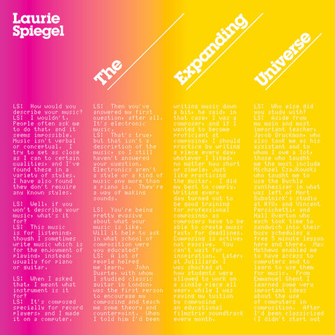 Laurie Spiegel - The Expanding Universe - Hot Salvation