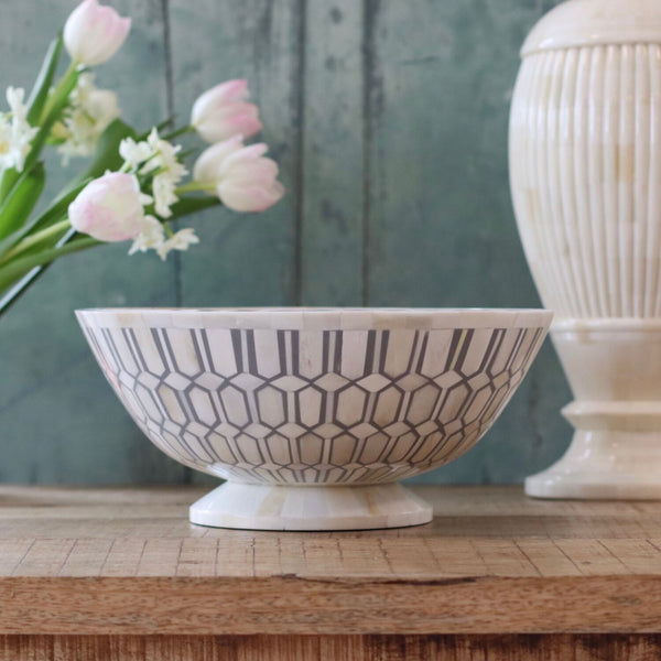 Decorative Inlay Bowl - Grey
