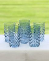 Hobnail Tumbler Blue - SET OF 6