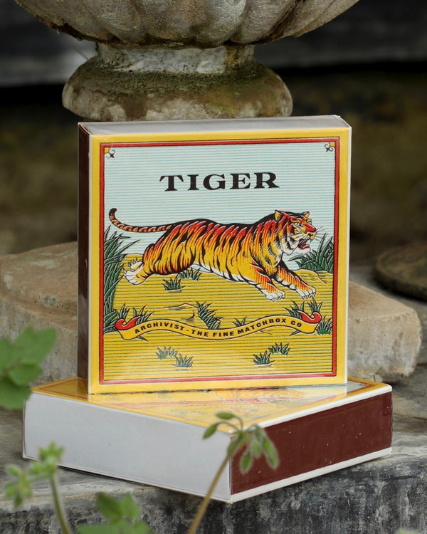 Square Matchbox - Tiger